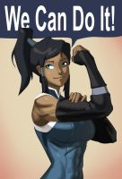 Korra the Riveter by morganagod