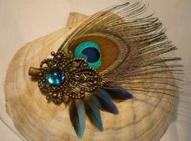 Dream of Brass and Blue - Hairclip by Ganjamira