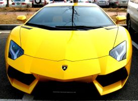 Yellow Aventador by toyonda