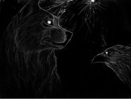 the wolf and the crow by ricenator
