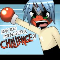 Strong Bad -- CHALLENGE by littlelenore