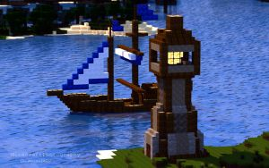 Sharthur City Project | Boat and Lighthouse by MinecraftPhotography