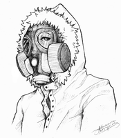 kenny: gas mask by SUCHanARTIST13