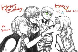 Harry's birthday by sojiron