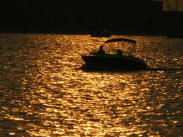Golden Hour, Boat by demboys18