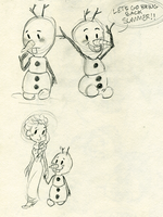 Olaf Doodles by maybelletea