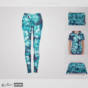 Green Flowers @threadless by fruity-shapes