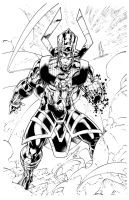 Galactus Silver Surfer by Frisbeegod