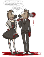 Horse Head Duo by Museinu