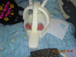 My Kyuubi fur head so far by emopuppy07