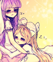 Sleepy together by Pemiin