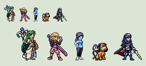 SSB4 Newcomers sprites by Gregarlink10