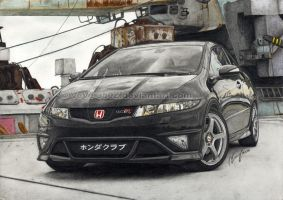 CTR black devil drawn by VeVe-350Z