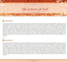 Colours of Fall journal skin by AwsumZ