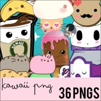 Pack de 36 Kawaii Pngs by Serranista