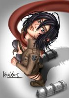 Attack on Titan Mikasa Ackerman by KazXart