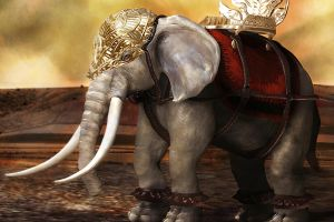 War elephant by PPeerapat