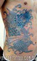 Tatuagem Carpa Azul Bluekoy Tattoo by micaeltattoo