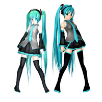 MMD Eto Miku new and old by CrazedVampireGirl