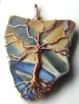 Recycled Ceramic Wire Wrapped Tree of Life by LoneWolfjewelry