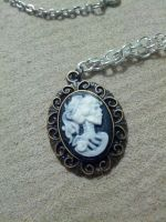 Bloody chain skeleton cameo 3 by TinkersTreasury