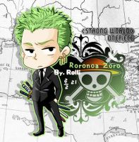 Zoro in Black Suite by ButterRolli