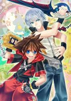 Riku and Sora- DDD by HellHum