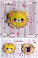 kyaaa.biz Cute Lion Brooch by shiricki