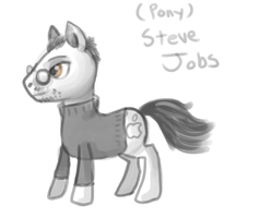 Steve Jobs Pony by FeatheredSoap