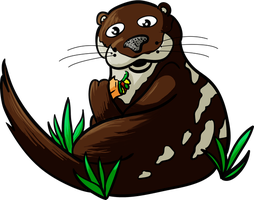Otter Caught Eating a Burrito by TheFlyinFerret