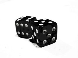 Trick dice is black and White. by Indagate