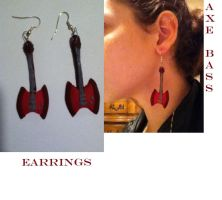 Axe Bass Earrings by fieldofheather