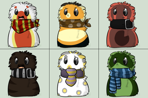 Scarf Blobs Set 1 by Muffin-Adopts
