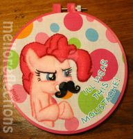 Pinkie Pie Embroidery Hoop by MelloReflections