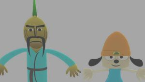 PaRappa and Chop Chop Master Onion in LBP 2 by SpongeDudeCoolPants