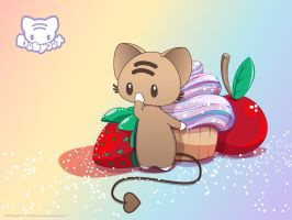 Momo Protects Her Sweets WP by lafhaha