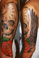 skull sleeve by Unibody