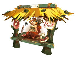 Dofus, butcher's profession by tchokun