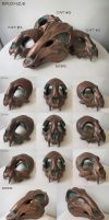 Limited Bronze Masks - FOR SALE by Bueshang