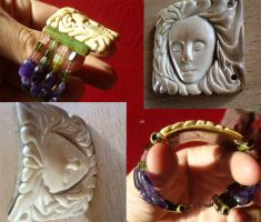 Mammoth Ivory Bracelet by indigartistic