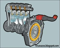 Honda Hybrid Engine by CRCavazos