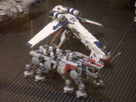Lego Republic Dropship + AT-OT by V-kony