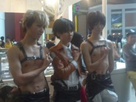 SnK/AoT Cosplay- Jean, Levi and Eren by 13Kitty95