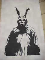 Donnie Darko Frank stencil by makobsan