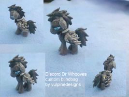LP FiM custom blindbag: Discord Whooves by vulpinedesigns