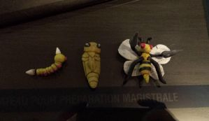 Weedle evolution set by cheese-puff82