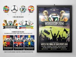 Brazil World Cup 2014 flyer template by saltshaker911