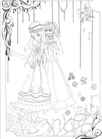 (Girl) Ciel and Alois-lineart by VocaloidFan12345