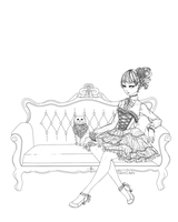 cool cats on a couch lineart by DarkDevi