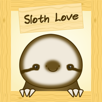 Cute Sloth Love by Paradasia